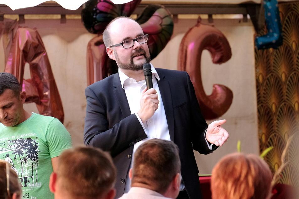 Kein einfacher Job: Sachsens Bildungsminister Christian Piwarz diskutiert am Mittwochabend in Meißen mit Bürgern über das Thema Bildung.