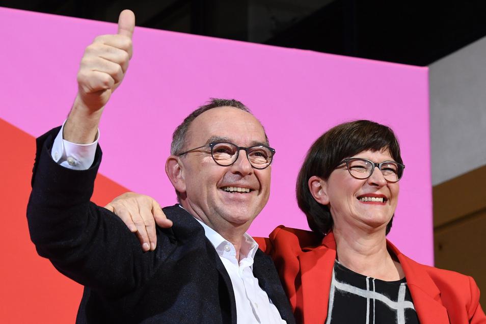 Norbert Walter-Borjans und Saskia Esken sind Kritiker der Groko und jetzt das Führungsduo der SPD.