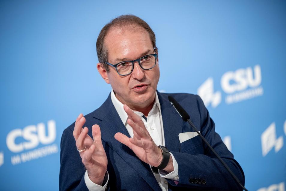 Alexander Dobrindt, CSU-Landesgruppenchef, wünscht sich eine schnelle Klärung der CDU-Führungsfrage.
