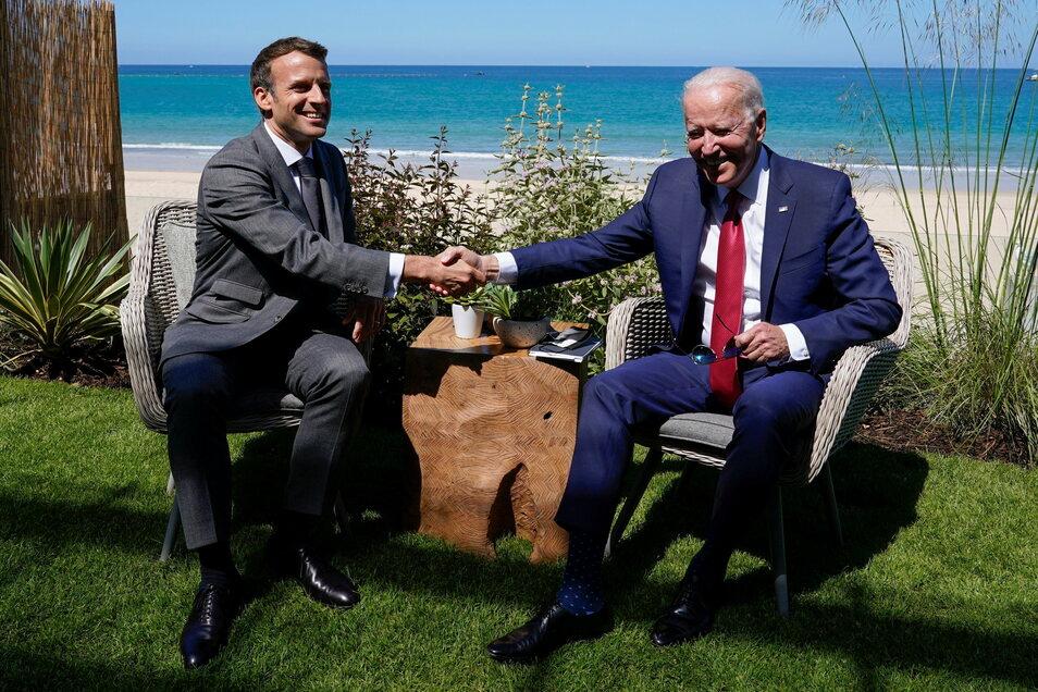 Nach dem schweren Zerwürfnis im U-Boot-Streit wollen US-Präsident Joe Biden und Frankreichs Präsident Emmanuel Macron im Oktober zu einem persönlichen Treffen zusammenkommen.