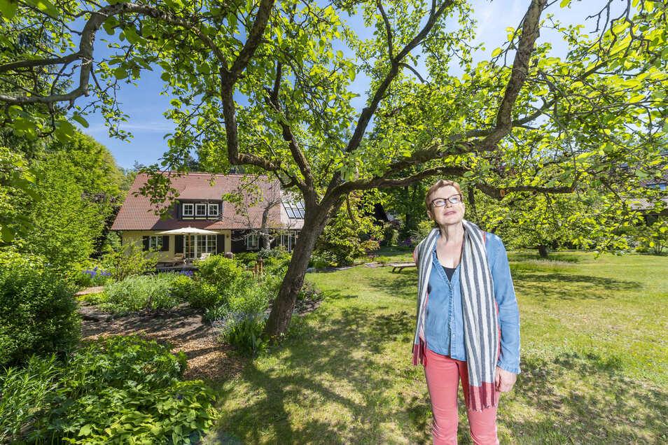 Charakterbäume haben es Madeleine Metz besonders angetan. 34 alte Bäume hat sie auf ihrem Grundstück.