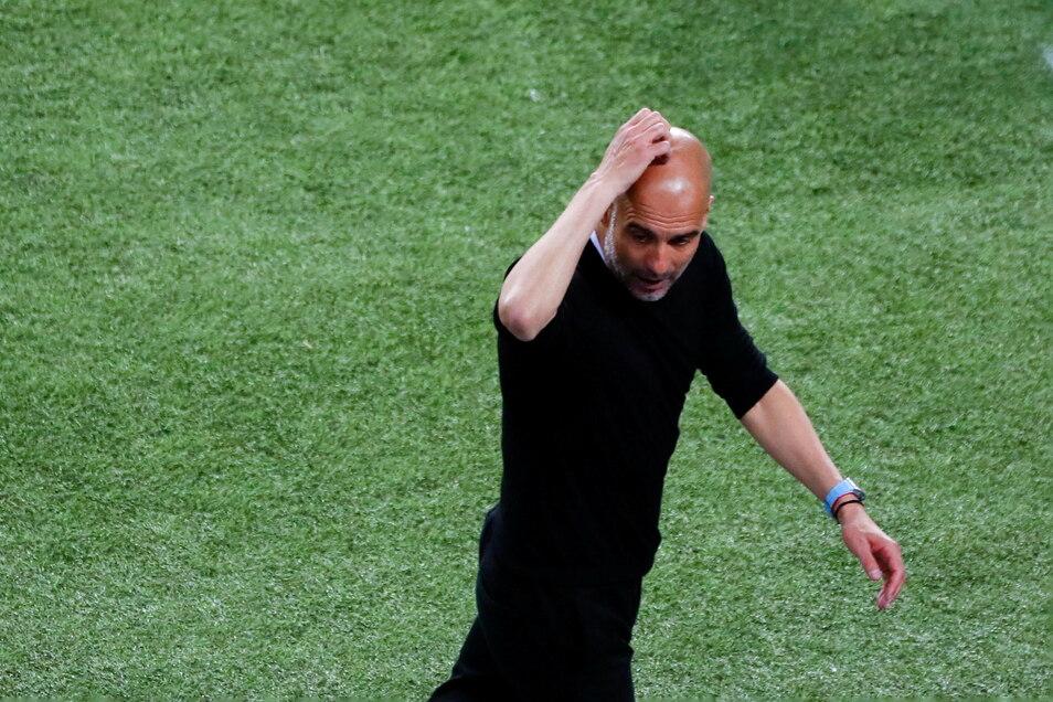 Pep Guardiola wartet weiter auf seinen dritten Titel in der Königsklasse