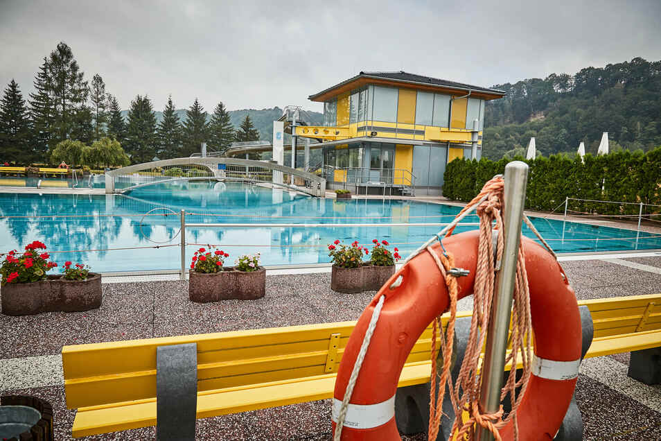 Im Freibad in Pötzscha gelten wegen Corona neue Regeln für Besucher.