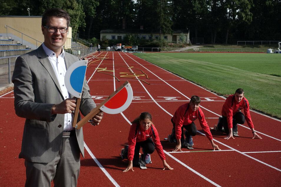 Oberbürgermeister Sven Liebhauser (CDU) hat die Eröffnung persönlich übernommen.
