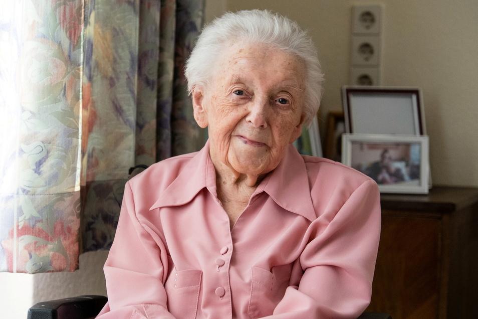 Gertrud Adler lebte bis vorigen Dezember in ihrer eigenen Wohnung in Görlitz-Königshufen. Doch auch im Heim geht es ihr gut.