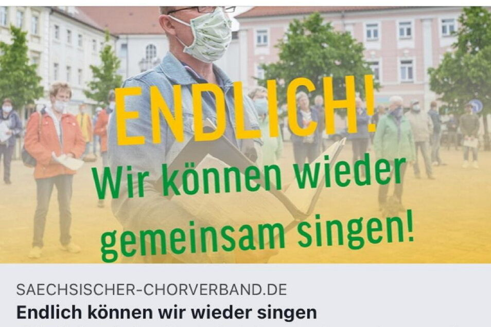 Impression vom Großenhainer Hauptmarktsingen 2020.