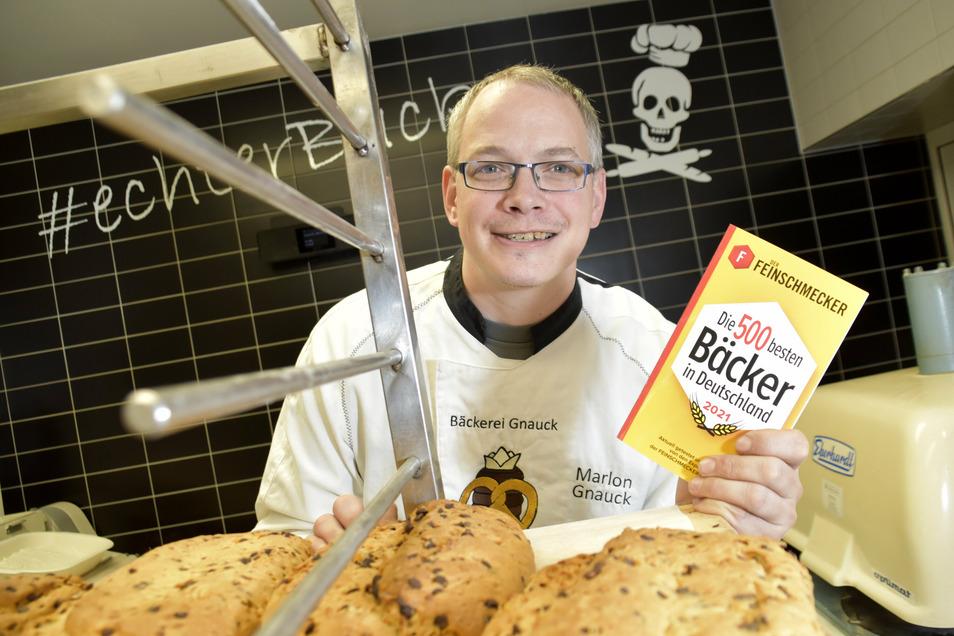 Marlon Gnauck ist vom Magazin Feinschmecker ausgezeichnet worden. Er gehört damit zu den 500 besten Bäckern Deutschlands.