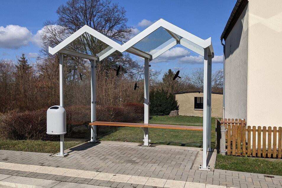 In ähnlichem Design soll ein weiteres Buswartehäuschen in Scharfenberg entstehen.