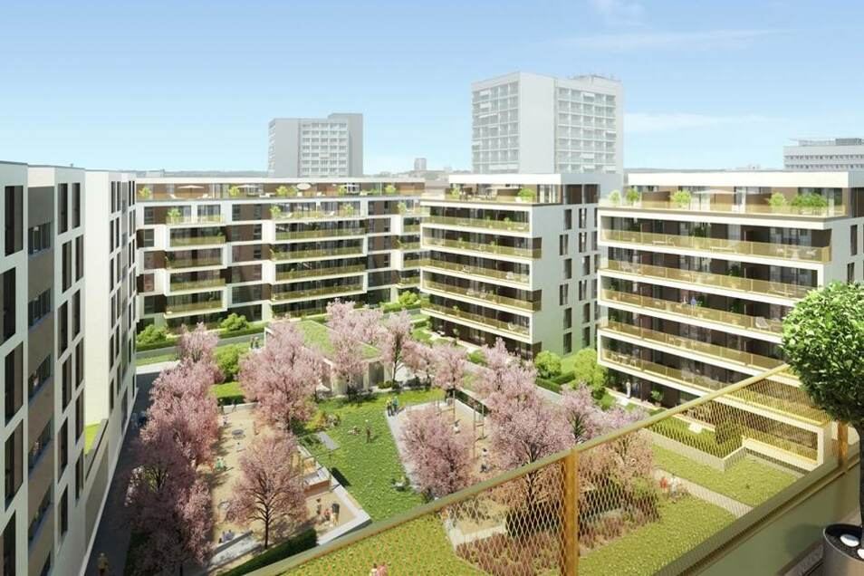 So soll der Innenhof gestaltet werden. Der Entwurf stammt vom Architekturbüro MPP Meding Plan aus Hamburg.