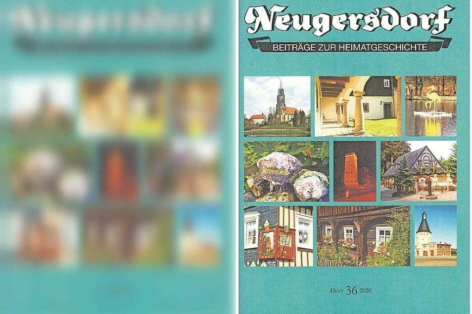 Das Titelblatt des neuen Neugersdorfer Heftes. Von Anfang an werden bekannte Stadtmotive in dessen Gestaltung einbezogen.