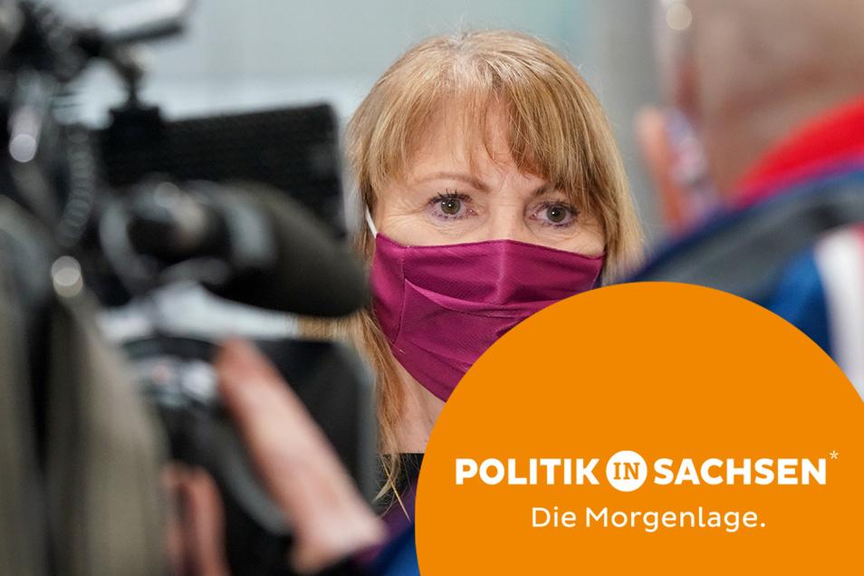 Sachsens Gesundheitsministerin Petra Köpping (SPD) hat weitreichende Lockerungen bei den Corona-Regeln angekündigt - unter anderem bei der Maskenpflicht.