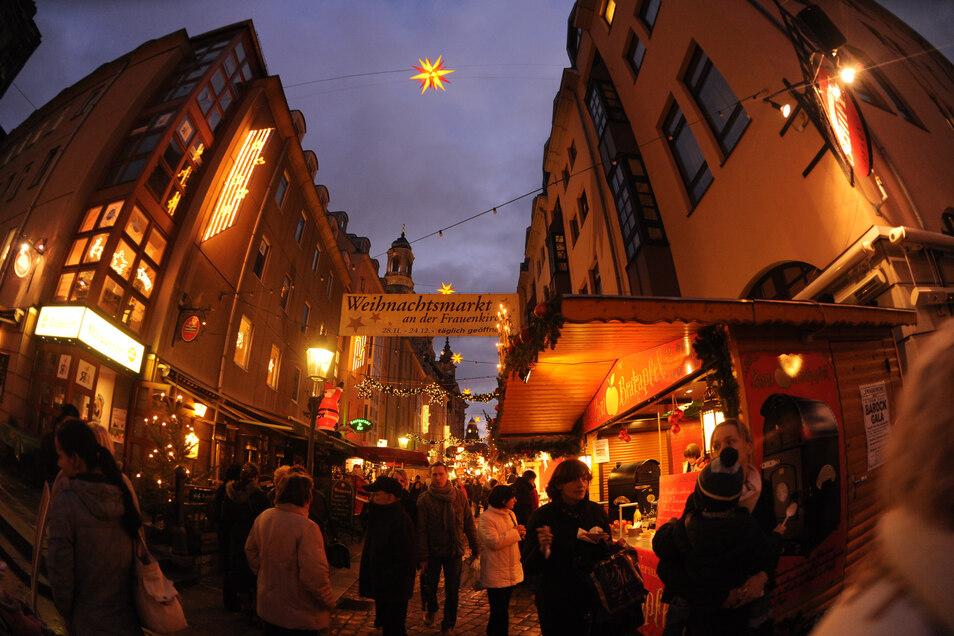 Der Weihnachtsmarkt in der Münzgasse und an der Frauenkirche wird in diesem Jahr nicht stattfinden.