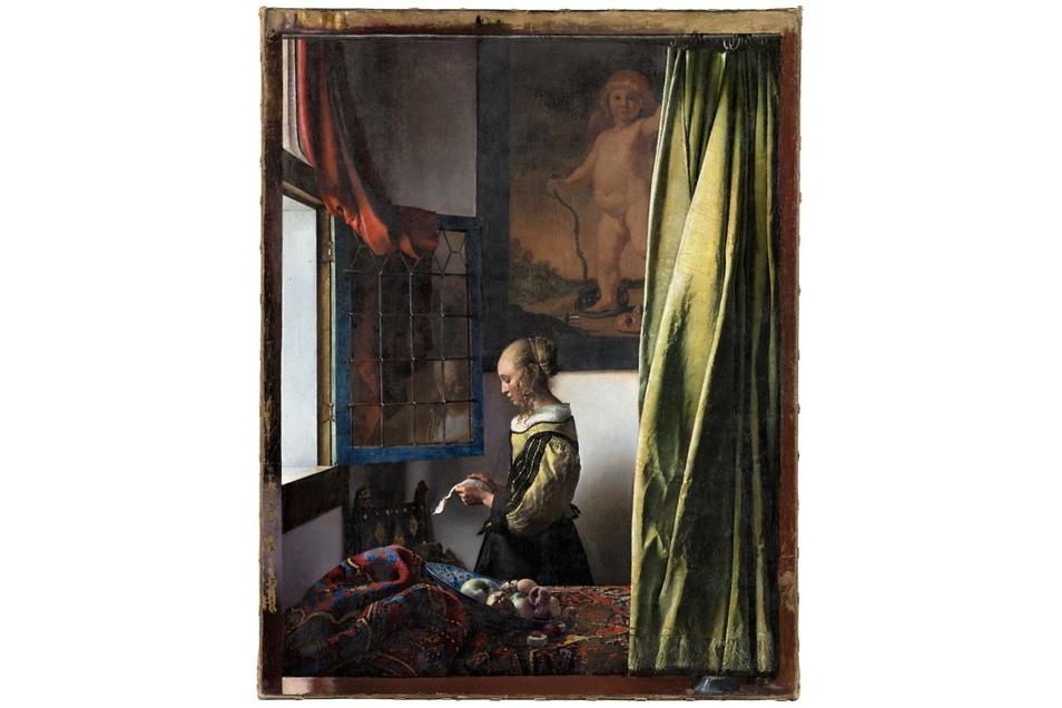 """Das Gemälde """"Brieflesendes Mädchen am offenen Fenster"""" wurde aufwendig restauriert und ist nun in seiner Ursprungsversion zu sehen."""