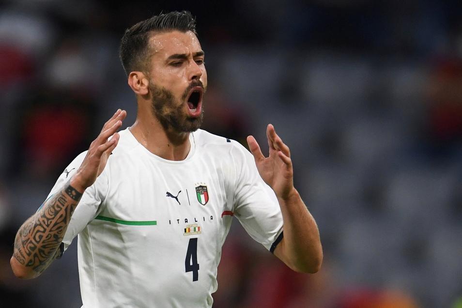 Italiens Leonardo Spinazzola scheint eine längere Verletzungspause bevorzustehen.