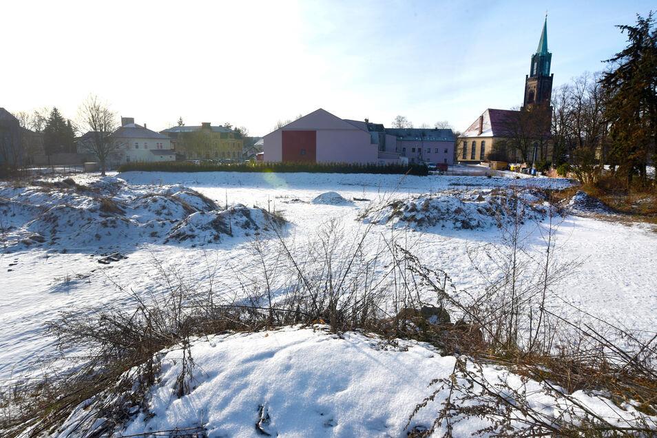 Für die Fläche hinter Stadt Zittau gibt es Pläne: hier soll ein neues Einkaufszentrum entstehen.