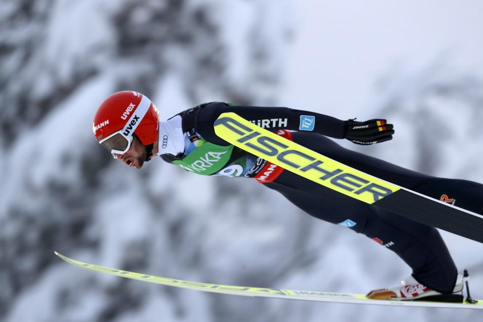 Er gehört zu den Tournee-Favoriten: Weltmeister Markus Eisenbichler. Schon die ersten beiden Weltcup-Springen dieser Saison hat er gewonnen.