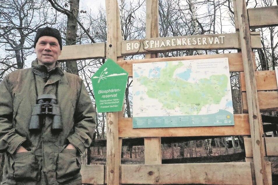 Herbert Schnabel arbeitet seit 1993 im Biosphärenreservat Oberlausitzer Heide- und Teichlandschaft.