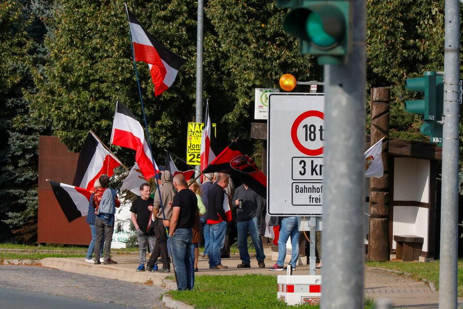 An den Protesten gegen die Corona-Maßnahmen beteiligen sich allwöchentlich auch Ebersbacher.