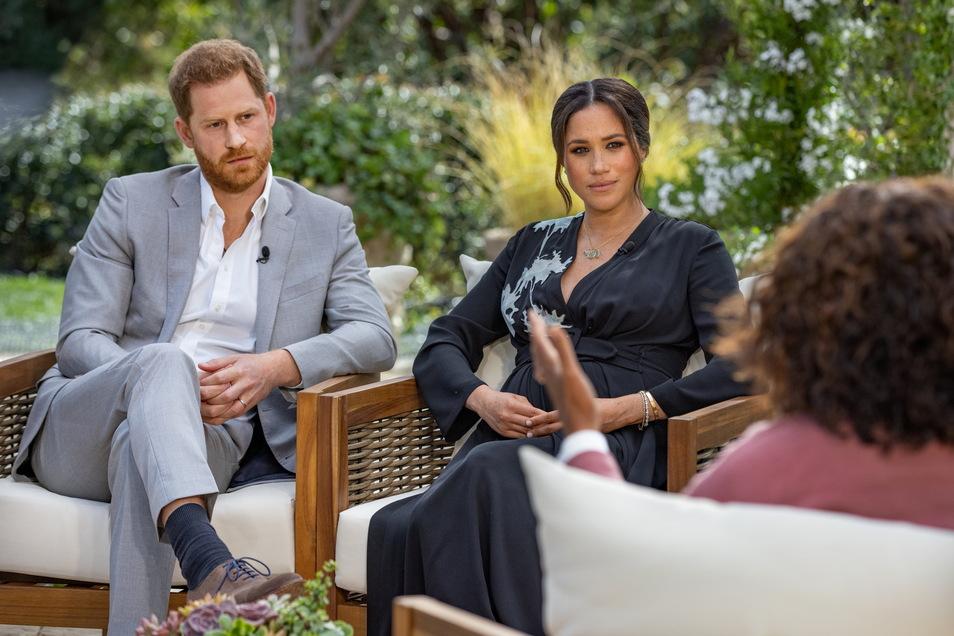 Oprah Winfrey im Gespräch mit Prinz Harry und seiner Ehefrau Herzogin Meghan.