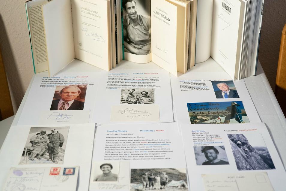 Die besondere Leidenschaft des Dresdners Jochen Mischke sind die Bergsteiger und ihre Schriftzüge.