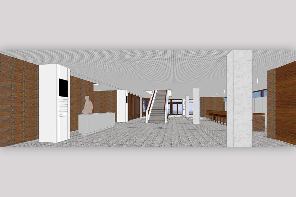 Das Foyer der Neuen Mensa
