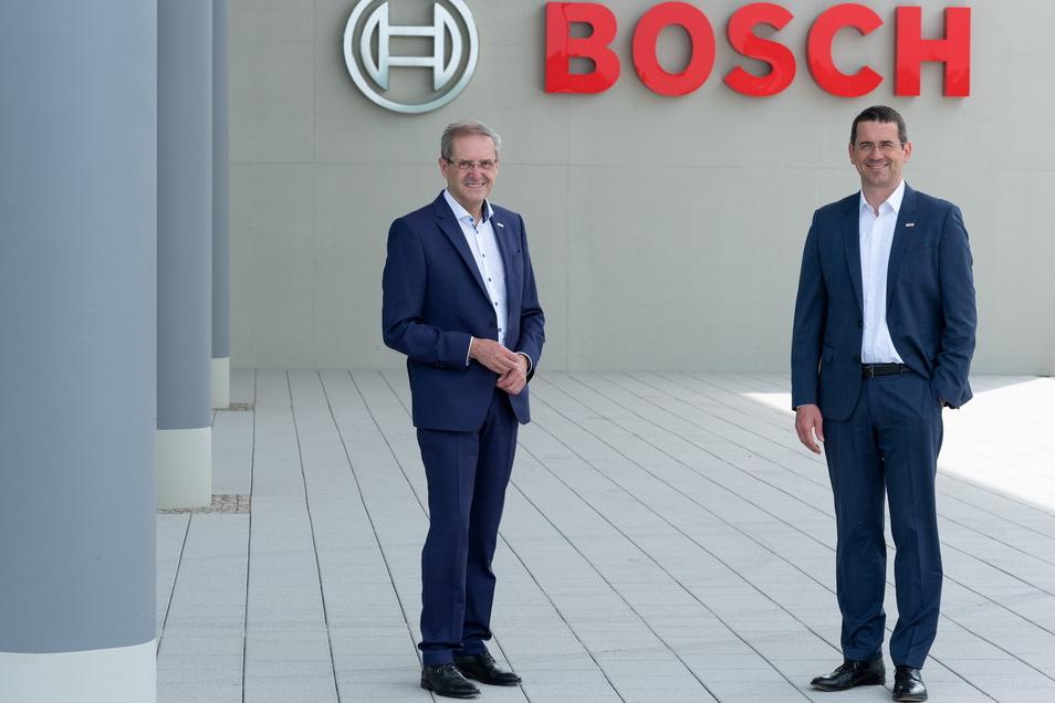 Der alte und der neue Chef: Otto Graf (l.) übergibt den Posten als Standortleiter an Christian Koitzsch.