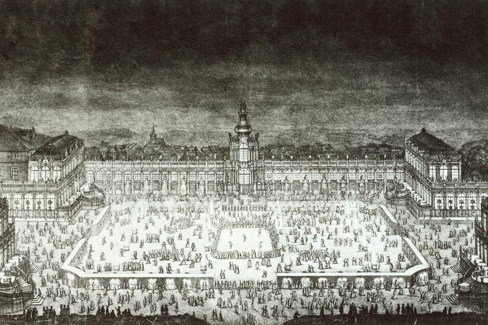 Bei Europas glanzvollster Hochzeit in Dresden 1719 erlebt Heinrich von Brühl als Silberpage seine Feuertaufe.