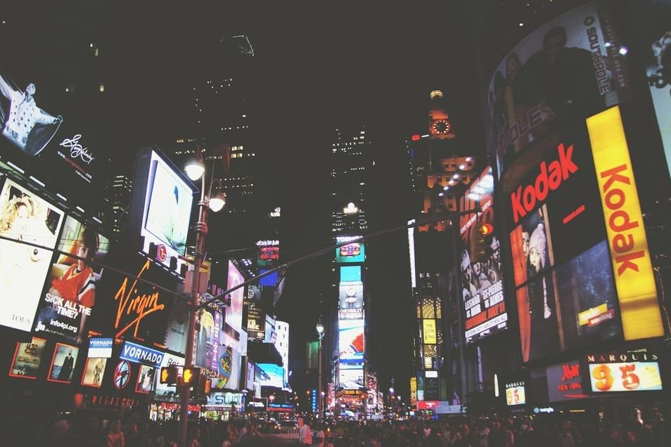 Der Times Square ist Ballungszentrum für Außenwerbung.