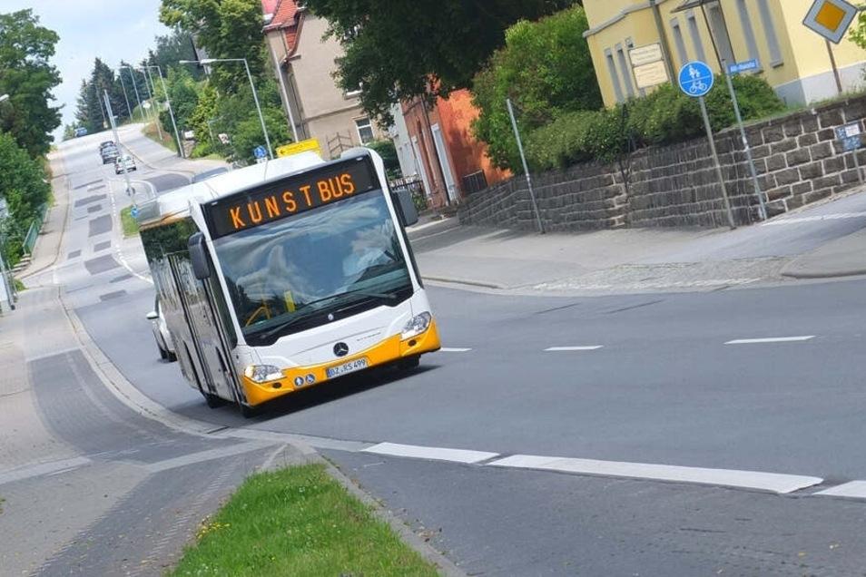 Der KunstBus rollt an zwei Tagen im August durch den Norden des Landkreises Bautzen.