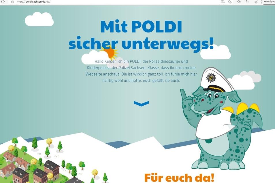 Erklärt Kindern spielerisch den Schulweg: Poldi, der Polizeidinosaurier