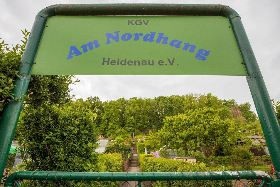 Hier hat Sindy Oehme das Sagen: Die Heidenauer Gartensparte an der Waldstraße.