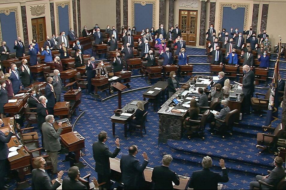 45 der 50 Republikaner im Senat haben sich gegen ein Impeachment Donald Trumps ausgesprochen.