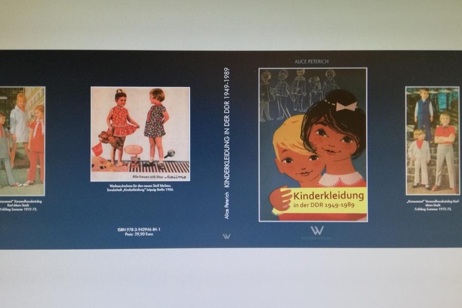 """Bucheinband von """"Kindermode in der DDR"""",."""