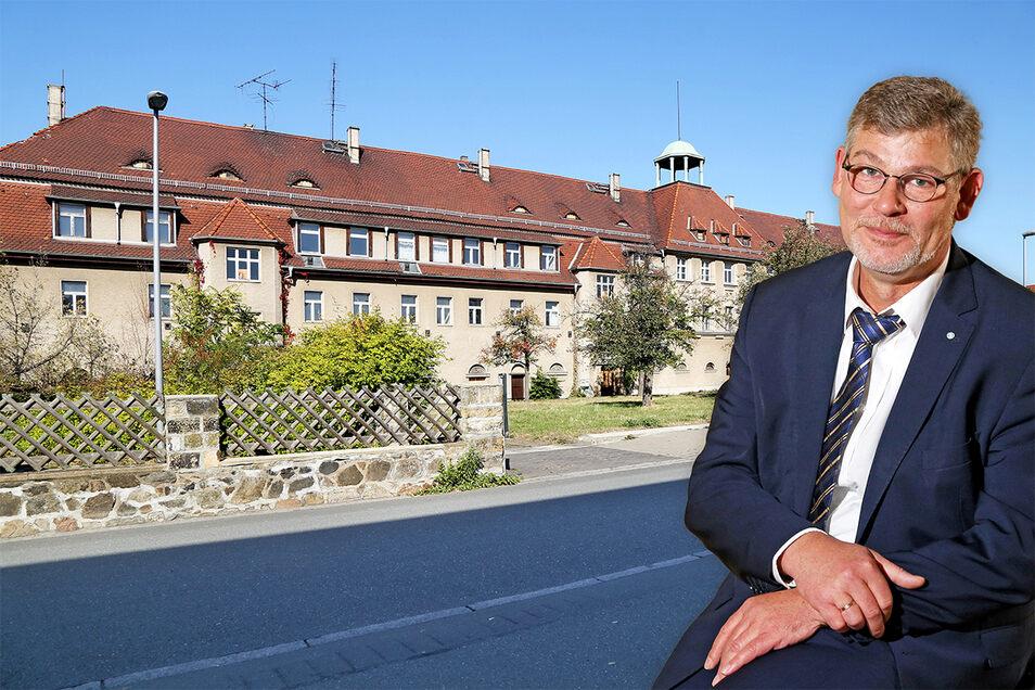 Jens-Torsten Jacob ist Geschäftsführer der Kreishandwerkerschaft Meißen. Für die Gebäude an der Rittergutstraße suchen Handwerk und Kreative gemeinsam Lösungen. Aber die Stadt agiert ihnen zu träge.