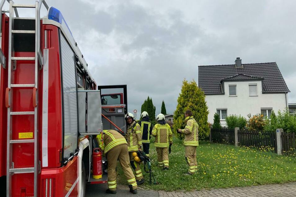 In diesem Haus in der Neugersdorfer Straße in Ebersbach drohte die Bewohnerin, sich in die Luft zu sprengen.