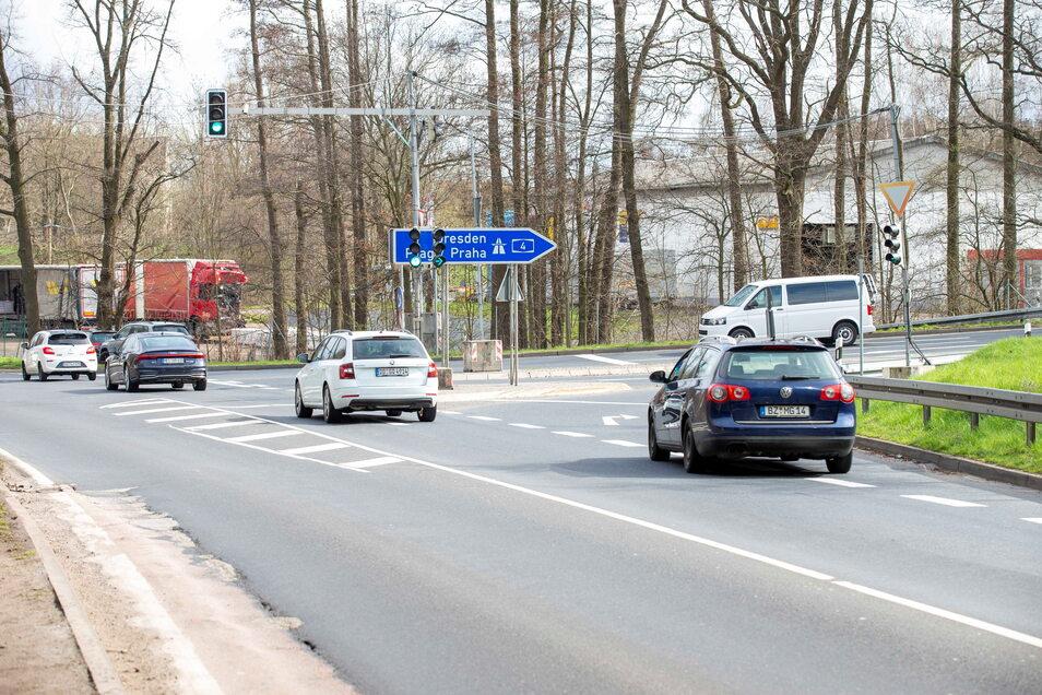 So sieht die Autobahnzufahrt in Fahrtrichtung Dresden zurzeit noch aus.