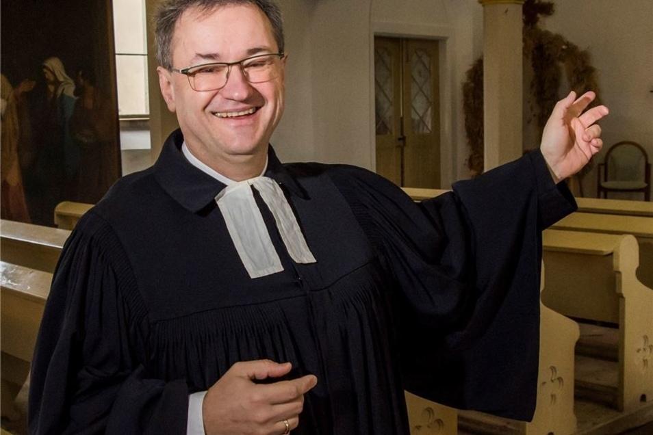 Gabriel Beyer ist zwar noch kein Emeriti, hilft aber auch aus in Steinbach-Naunhof – als Pfarrer im Wartestand.