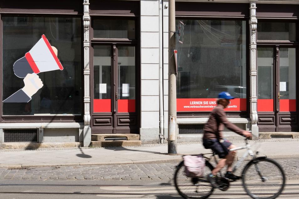 Eins von mehreren leer stehenden Geschäften am Görlitzer Demianiplatz.