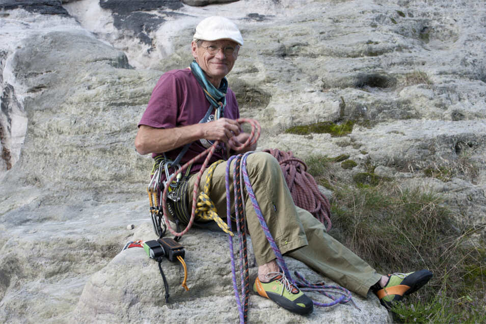 Nicht nur im Elbsandsteingebirge eine Legende: Bernd Arnold.