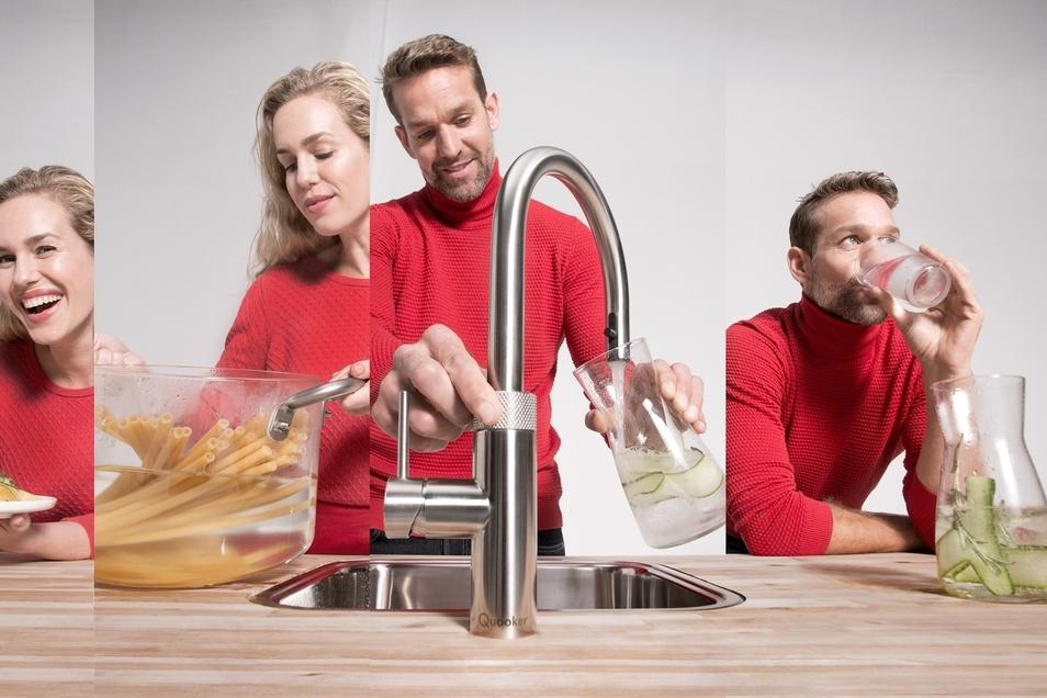 Wasser nach Lust und Laune - mit einer Quooker-Armatur kein Problem.