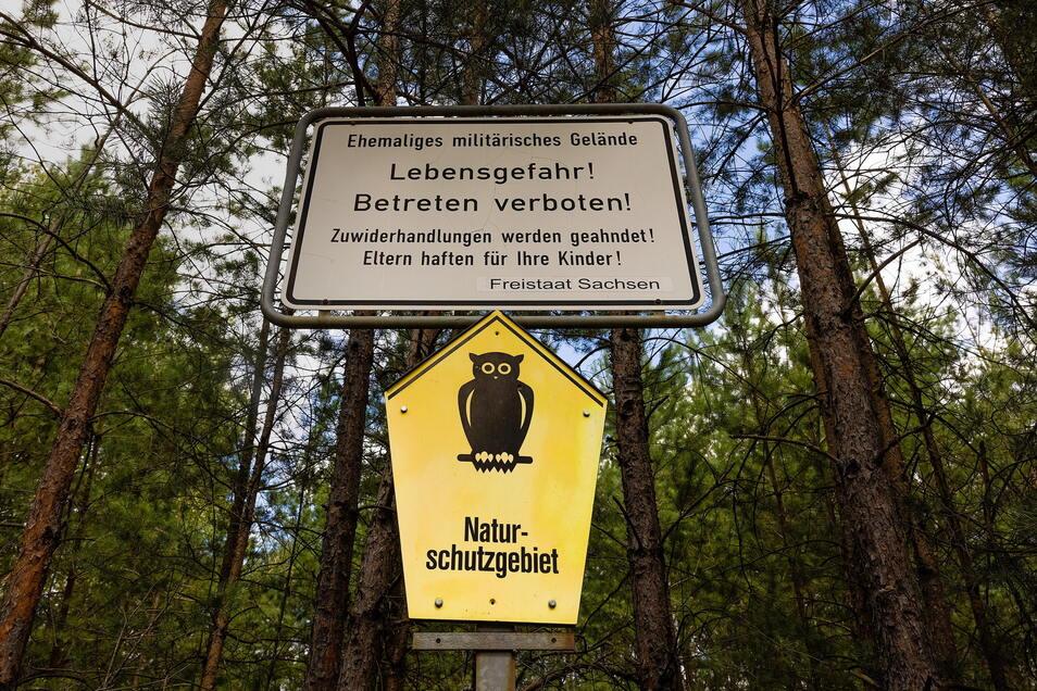 Weil noch immer alte Munition in der Erde lagert, ist das Betreten streng verboten.