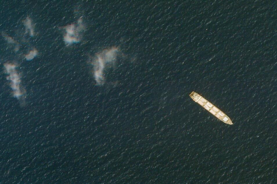 Das iranische Frachtschiff MV Saviz liegt im Roten Meer vor der Küste des Jemen.