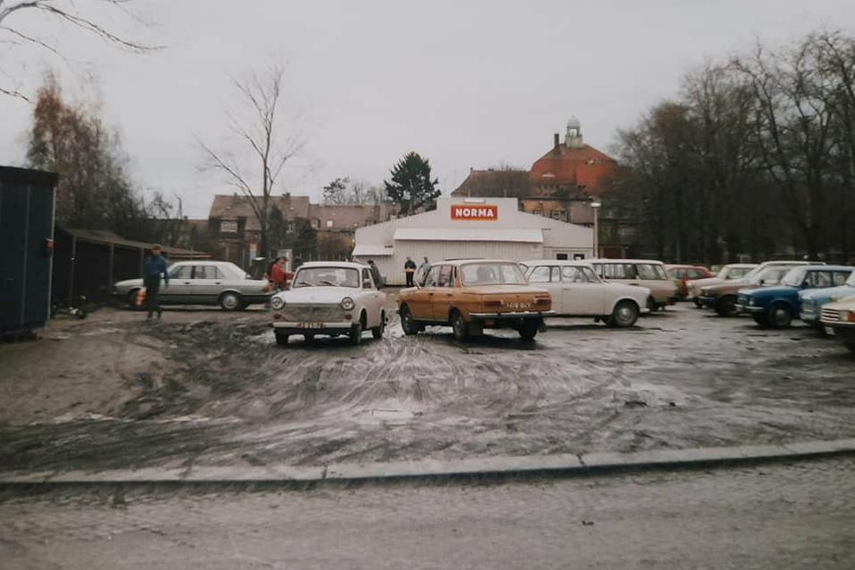 Der erste Discounter in Kamenz: Norma auf dem Sportplatz an der Goethestraße.