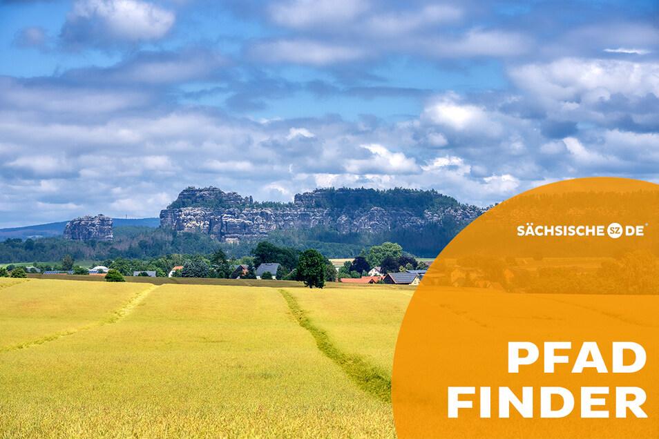 Dieses großartige Panorama der Sächsischen Schweiz bietet sich am Caspar-David-Friedrich-Weg. Der Originalweg wird mit 15 km Länge angegeben, bei der Variante über die Kleine Bastei kommen gefühlt 5 km hinzu.