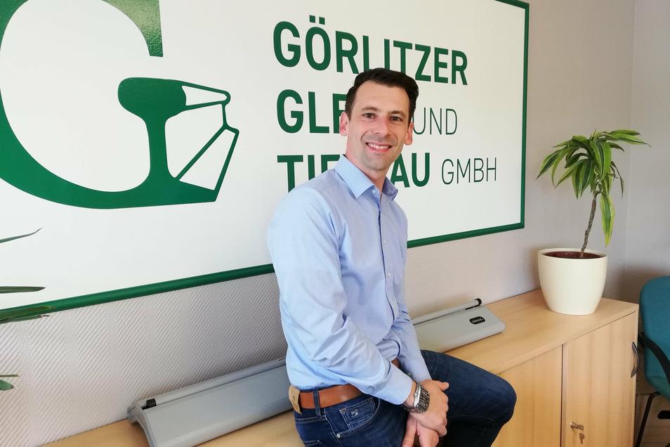 Michael Freiwerth, Geschäftsführer der Görlitzer Gleis- und Tiefbau GmbH.