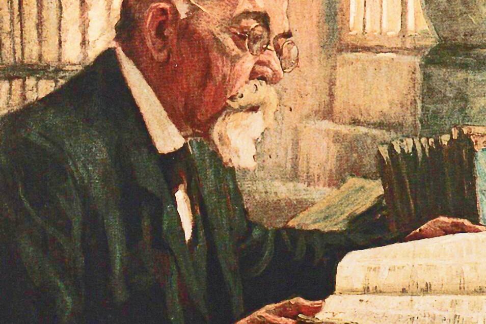 Der Maler Otto Engelhardt-Kyffhäuser porträtierte Professor Richard Jecht 1924