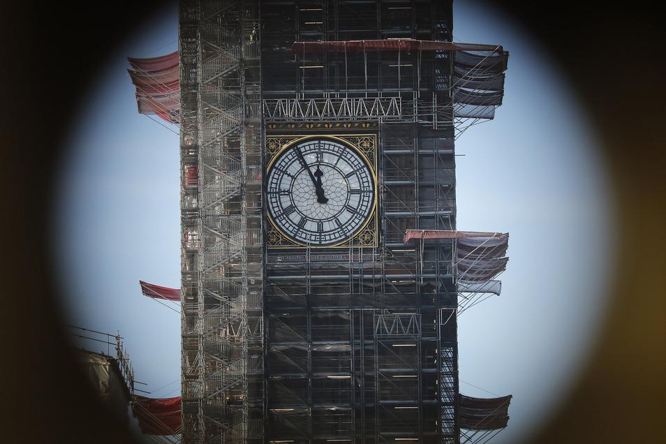 Der Big Ben in London wird derzeit restauriert.