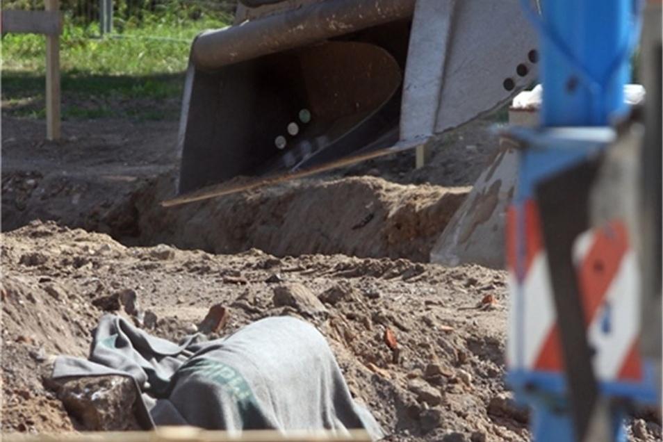 Bei den Bauarbeiten wurde 2013 dieser Blindgänger gefunden. Etwa 5000 Anwohner wurden evakuiert.