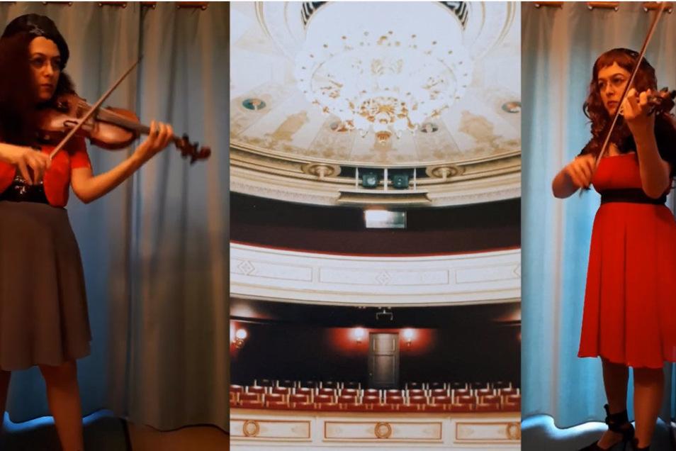 Im Video spielte Odette Schweigert beide Stimmen von Bachs Doppelkonzert für zwei Violinen. Im Konzert am Freitag sind solche Effekte natürlich nicht möglich, dafür ist dann wieder alles live.