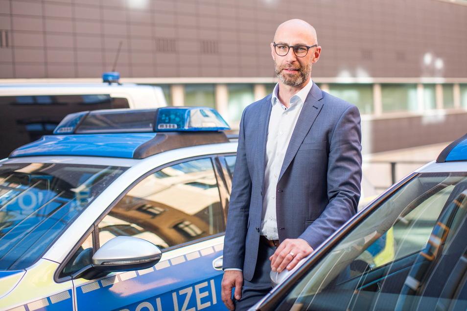 Denis Kuhne ist der neue Chef der Dresdner Kriminalpolizei.